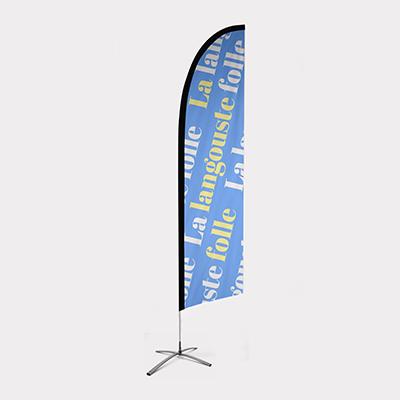 impression beachflag plume eco S pas cher