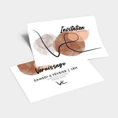 impression carte invitation imprimee pas cher