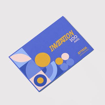 impression carte invitation soft touch pas cher